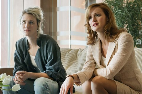 Mackenzie Davis as Cameron Howe and Kerry Bishe as Donna Clark - Halt and Catch Fire _ Season 2, Episode 2 - Photo Credit: Tina Rowden/AMC
