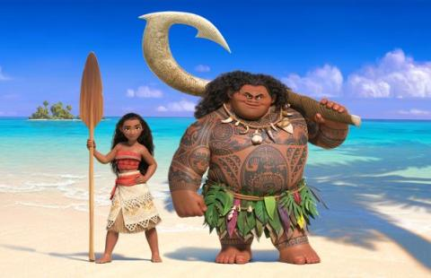 1era imagen de Moana y Maui