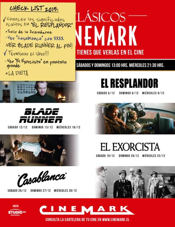 Clasicos Cinemark Diciembre