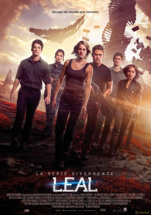Afiche final de Divergente La Serie Leal