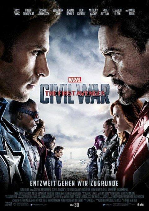Afiche aleman de Capitán América Civil War