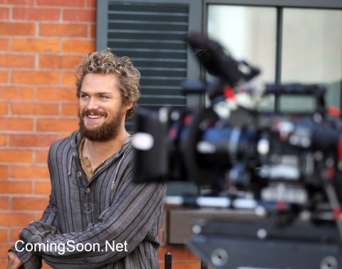 "NEW YORK, NY - APRIL 19: Finn Jones filming Marvel/ Netflix's ""Iron Fist"" on April 19, 2016 in New York City. (Photo by Steve Sands/GC Images)"