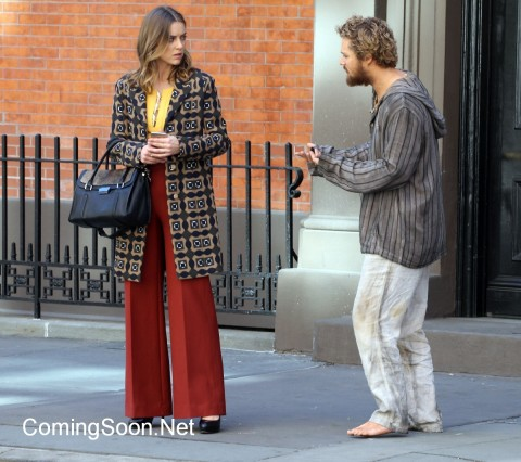 "NEW YORK, NY - APRIL 19: Jessica Stroop, Finn Jones filming Marvel/ Netflix's ""Iron Fist"" on April 19, 2016 in New York City. (Photo by Steve Sands/GC Images)"