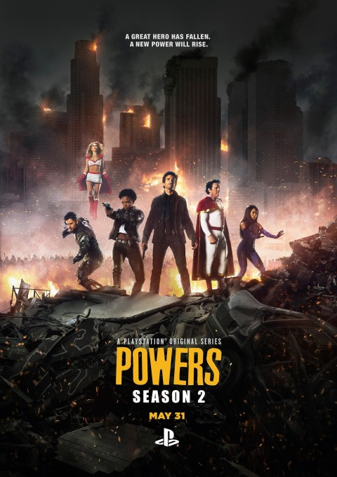 Poster de la segunda temporada de Powers 1