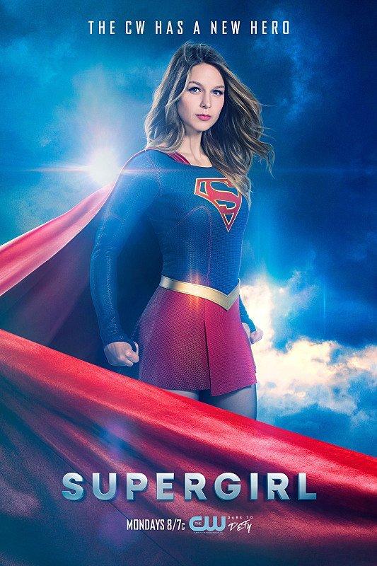 Afiche promocional de la 2da temporada de Supergirl