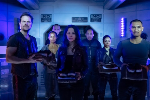 "DARK MATTER -- ""Welcome To Your New Home"" Episode 201 -- Pictured: (l-r) -- (Photo by: Jan Thijs/Prodigy Pictures/Syfy)"