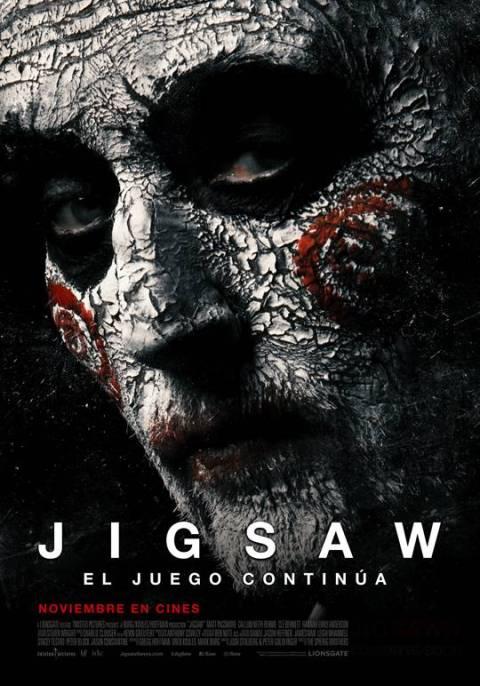 Nuevo afiche de Jigsaw: El Juego Continúa. Estreno en Chile, 9 de Noviembre